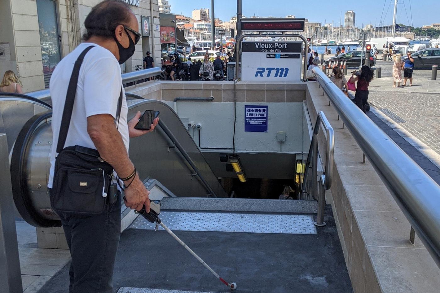 , [Vidéo] Une application pour guider les malvoyants dans le métro marseillais, Made in Marseille