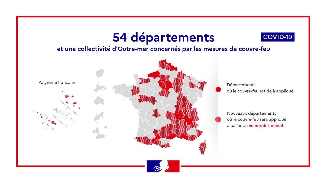 Le Couvre Feu Mis En Place Dans Le Var Le Vaucluse Les Hautes Alpes Et Les Alpes Maritimes