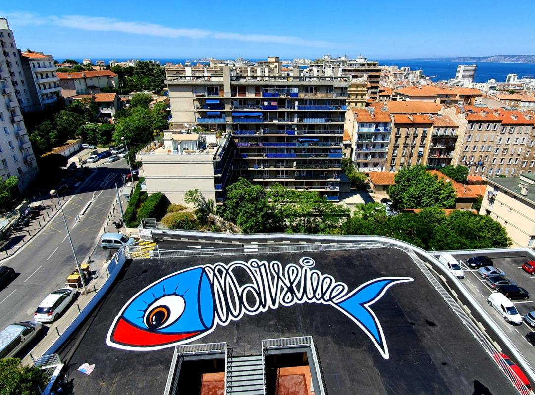 , Une fresque de 32 m de la Sardine de Marseille au pied de Notre-Dame de la Garde, Made in Marseille