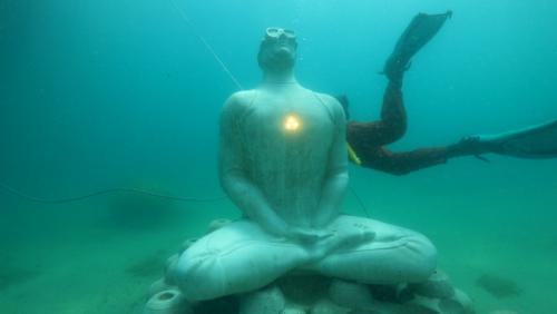 , Vidéo – Une statue connectée débarque au Musée subaquatique de Marseille, Made in Marseille